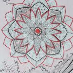 Mandala rouge et noir (4)