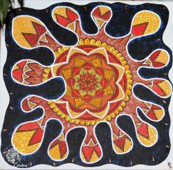 tableau mandala tache peinture acrylique